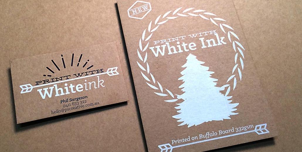 УФ печать белилами: на картоне.